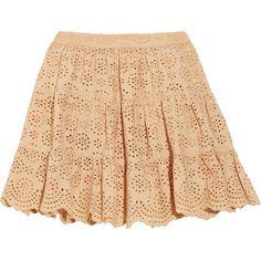 Paul & Joe Sister Guilieta broderie anglaise mini skirt ($99) ❤ liked on Polyvore