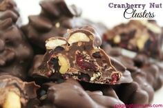 Cranberry Nut Clusters - a tasty & healthy treat using only 3 ingredients!