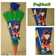 Schultüten - Schultüte Fußball - ein Designerstück von die-schultuete bei DaWanda