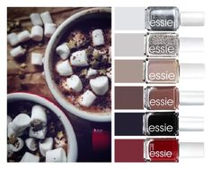 """""""Hot Chocolate"""" by chawy-mk ❤ liked on Polyvore featuring beauty and Essie"""