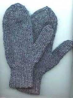 Mittens For Children And Adults Knitting Pattern