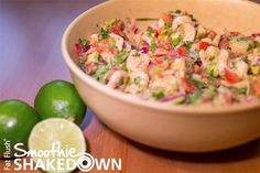 Shrimp Ceviche- Official Fat Flush Smoothie Shakedown Recipe