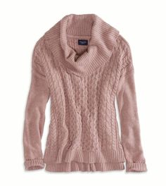 AE Real Soft Cabled Hi-Lo Sweater - American Eagle