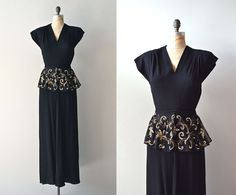 Millionaire's Club dress / vintage 30s dress / black by DearGolden, $328.00