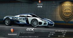 Koenigsegg CXX Poiice