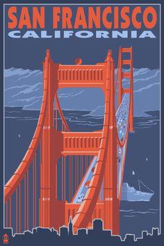 San Francisco, CA | Golden Gate Bridge poster