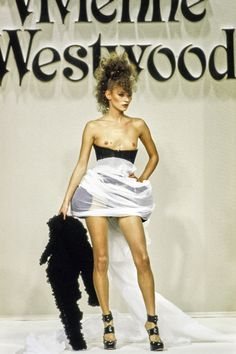 Andreas Kronthaler for Vivienne Westwood Fall 1994 Ready-to-Wear Fashion Show - Kate Moss
