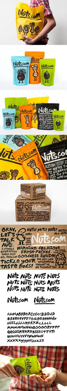 Expanded Nuts.com #packaging by Pentagram.