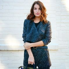 This fuzzy leopard wrap coat is a dream.