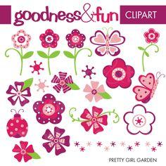 Pretty Girl Garden - Cliparts - Mygrafico.com