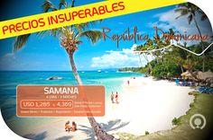 ¡Vuela a República Dominicana y disfruta de Samana🌴☀🎉! Un viaje inolbidable que empieza aquí ➡http://goo.gl/YKNM1H Incluye: Boleto aéreo + Alojamiento + Alimentación
