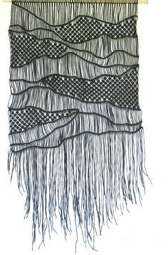 "Macrame wall decor- width 22"" , length 42"", Bohemian macrame hanging-Macrame Wall Hanging-Black- Handmade Macrame Wall Art"