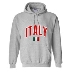 27d5657b5 Italy MyCountry Pullover Arch Hoody (Sport Gray) - IceJerseys.com -  Official Fan