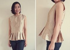 How to make a peplum top from a dress sewing pattern - ペプラムトップス - Sew in Love