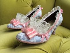 Marie Antoinette Costume Shoes Heels Rococo by HexHeartHollow