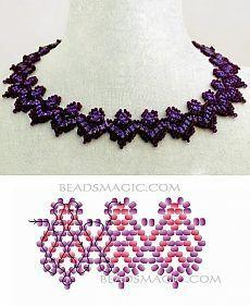 Still schemes of a necklace. Diy Necklace Patterns, Beaded Jewelry Patterns, Bead Crochet Patterns, Beading Patterns Free, Beading Techniques, Beading Tutorials, Bead Crafts, Jewelry Crafts, Handmade Beads