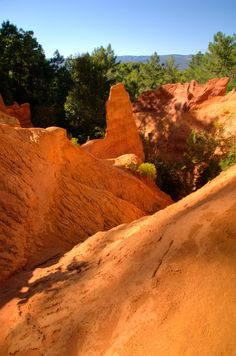 The Ochre Trail near Rousillon, Provence