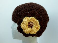 Crocheted hats at cottagestreetstation.etsy.com