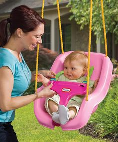 Love this Pink Snug 'n' Secure Swing on #zulily! #zulilyfinds