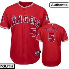 90f54308e Buy wholesale price Youth Los Angeles Angels of Anaheim Albert Pujols  Authentic Majestic Alternate Red Cool
