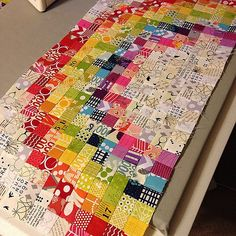 "Have y'all ever made something and thought to urself ""dayum, I did a really good job?"" Well that's how I'm feeling about this!!!! Absolutely IN LOVE with the way this turned out! I can't believe that I (MYSELF) made it!!!!!!!! #swapsewing #sewingincolor # by craftnursequilt, via Flickr"