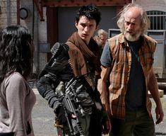 ZNation: 10k and Doc. This is a surprisingly fun and entertaining zombie apocalypse TV show. Well done, Asylum.