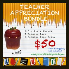 Scentsy Teacher Appreciate Bundle While Supplies Last.