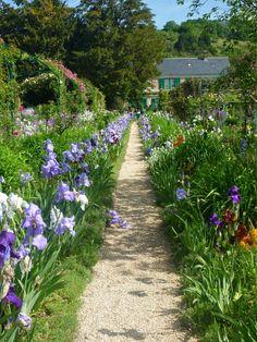 Image may contain: plant, tree, flower, sky, outdoor and nature Garden Paths, Garden Art, Garden Design, Garden Tips, Claude Monet, Beautiful Gardens, Beautiful Flowers, Magical Gardens, Monet Garden Giverny