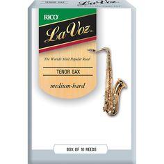 La Voz Tenor Saxophone Reeds Medium Hard Box of 10