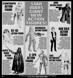 Captain Company ad for large size Kenner action figures from Famous Monsters of Filmland magazine, 1979