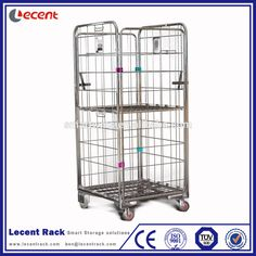 High Quality Standard Warehouse Roll Cage Storage Trolley