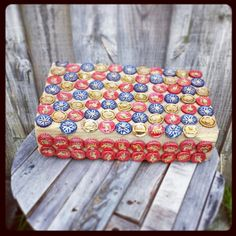 #bottlecaps #kitchen #chopingboard #ashleigholynnart #upcycle #diy #potcoaster