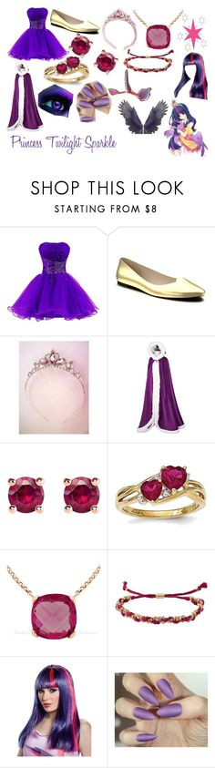 """""""Girl Princess Twilight Sparkle Outfit"""" by princessluna847 ❤ liked on Polyvore featuring My Little Pony, Shoes of Prey, Thomas Sabo, Ettika and Disguise"""