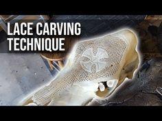 Skull Carving Technique: Lace Cut Through Pattern Deer Skull Art, Deer Skulls, Cow Skull, Animal Skulls, Skull Crafts, Dremel Carving, Bone Crafts, Bull Skulls, Bone Carving