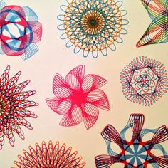If you can imagine it, you can draw it with Spirograph Makes a great gift.