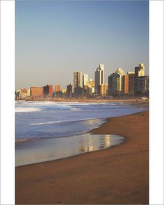 """Photograph-Durban skyline and beachfront, KwaZulu-Natal, South Africa-10""""x8"""" Photo Print expertly made in the USA"""