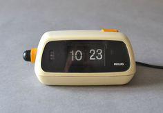Vintage flip clock alarm clock West German by MightyVintage