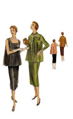 1950s Vogue 8393 Maternity Vintage Sewing by DesignRewindFashions, $35.00