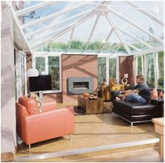 Perfect for any home, this conservatory features Pilkington Activ™ Blue to benefit from both self-cleaning and solar control properties Conservatories, Benefit, Solar, Cleaning, Blue, Home Cleaning