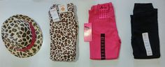 New  4 piece sz 4t Toddler GIRL Gymboree Leopard Pink black jeans fedora hat lot #GymboreeAvivagirlBeverlyHillsprincess #jeanspants #DressyEverydayHoliday