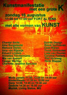Kunst in Fort Altena 16 augustus 2015, van 11.00h tot 17.00h, Tol 8, Werkendam.