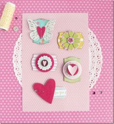 cafe creativo - Anna Drai - big shot sizzix - handmade embellishments (1) these are made using thew starter kit that came with the big shot teal version yes another way to use the dies