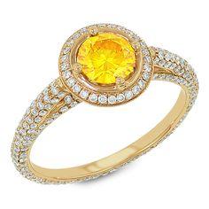 1.56 TCWT | Fashion Ring, Round Shape Center | Set in 18Kt Pink Gold Sku# 19310929921156