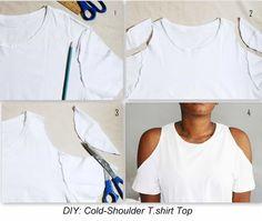 Zerschnittene Shirts, Diy Cut Shirts, T Shirt Diy, How To Cut Tshirt, Diy T Shirt Cutting, Cut Tshirt Ideas, Cut Shirt Designs, Band Shirts, T-shirt Refashion
