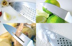 Zest, peel, chop and grate with one tool? Nothing basic about these multi-purpose BasicKnives.