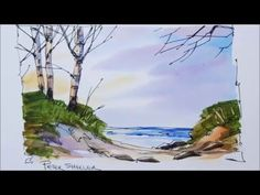 Loosen up your Line and Wash. Watercolor Techniques. Paint a Farmhouse with Peter Sheeler - YouTube