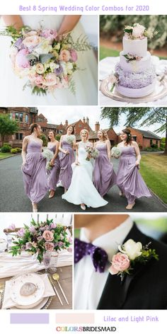 Best 8 Spring Wedding Color Combos for Lilac + Light Pink. wedding lilac Best 8 Spring Wedding Color Combos for 2020 Grey Wedding Colour Theme, Blush And Grey Wedding, Pink Green Wedding, Pink Wedding Theme, Spring Wedding Colors, Wedding Cake, Wedding Themes, Dream Wedding, Wedding Decorations