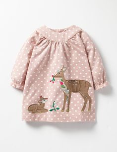 Cute kids deer dress. Winter Animals Appliqué Dress #affiliate (I will receive a small commission if you click this link)