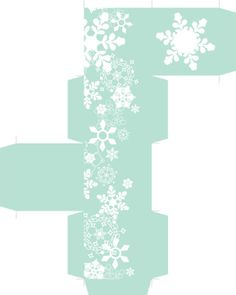 free printable snowflake box (2.25 inches.)