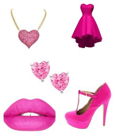 """Girly pink look"" by thegamingcookie on Polyvore featuring Sugarpill"